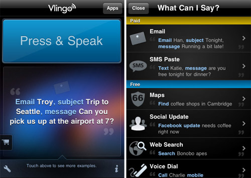 Update Twitter and Facebook status using your voice