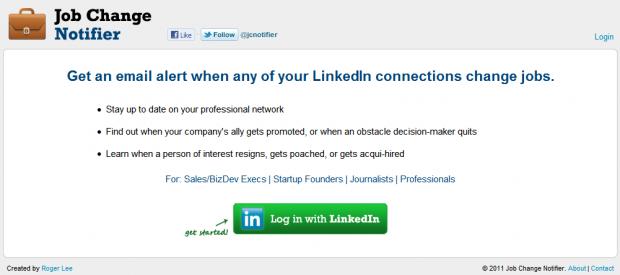 job change notifier in linkedin